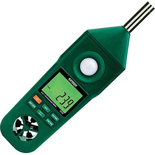 Extech Hygro-Thermo-Anemometer-Luxmeter-Schallpegelmesser, 1 Stück, EN300