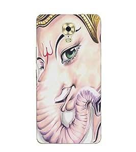 FUSON Lord Ganesha Face Trishul 3D Hard Polycarbonate Designer Back Case Cover for Gionee M6 Plus