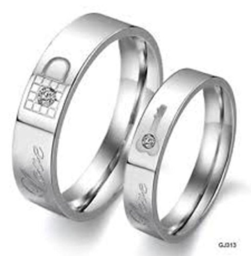 AVN JEWELLERS Love Couple Ring for Boyfriend and Girlfriend for Valentines Day. Size: 7 & 9