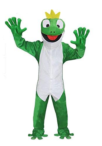 FROSCHKÖNIG GR. M-L-XL KOSTÜM FROSCH FASCHING KARNEVAL FASTNACHT (Kostüm Froschkönig)