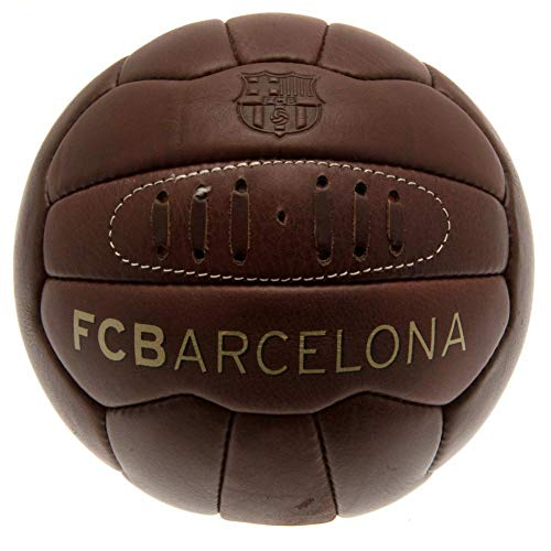 FC Barcelona offizieller Retro Heritage Ball (Grße 5) (Braun) -