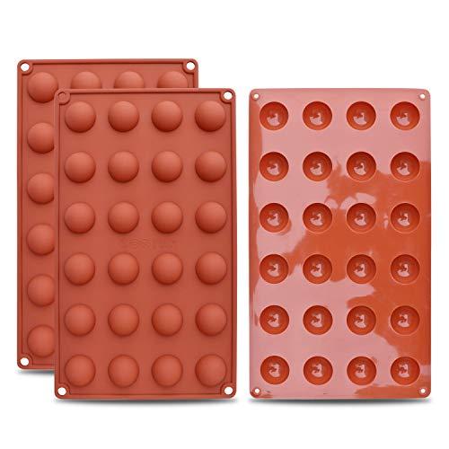 HomEdge Mini molde silicona semi-esfera 24 cavidades