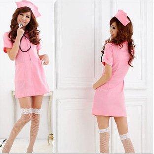 MQZM bella biancheria intima Rosa degli Angeli piccolo pull-infermieri uniformi tentazioni,Rosa,entrambi
