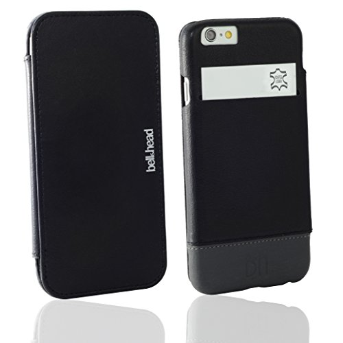 "bell & head® Lederhülle ""jump"" für das Apple iPhone 6(s) 4,7"" Zoll schwarz/grau"