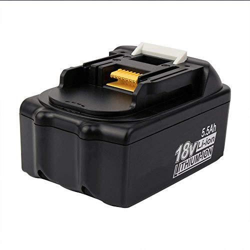 18V 5.5Ah BL1850 für Makita Ersatzakku, Lithium-Ionen-Verlängerte Batterie für Makita bl1830 BL1840 BL1815 BL1835 BL1845 194204-5 LXT-400
