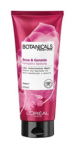 Botanicals Farbglanz Spülung, für coloriertes Haar, mit Rose und Geranie, schützt die Haarfarbe und bringt sie zum leuchten, 1er Pack (1 x 200 ml) -