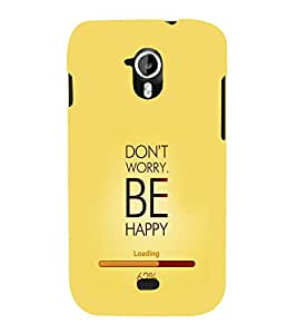 printtech Happy Quotes Back Case Cover for Micromax Canvas HD A116::Micromax Canvas HD Plus A116Q