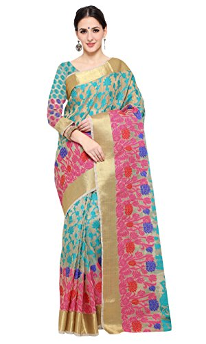 Shree Sanskruti Women's Poly Cotton Saree With Blouse Piece (Jashn Jaal 2...