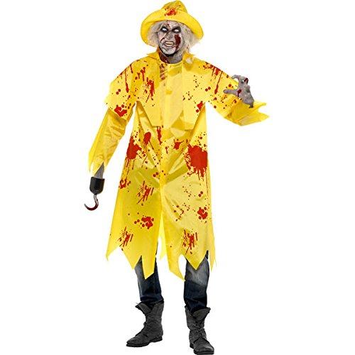 Déguisement pompier zombie homme