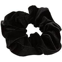 Plain terciopelo negro Scrunchies