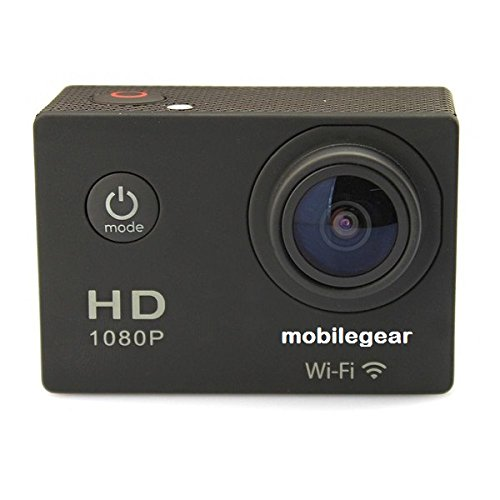 Mobilegear 12 MP WiFi 1080P Full HD Medium Quality Waterproof Digital Action Camera & Sports Camcorder With 170 degree Wide Angle Lens & Accessories