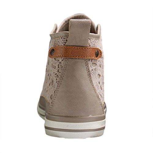Mustang 1146-507-4, Sneakers Hautes Femme Beige (Beige 4)