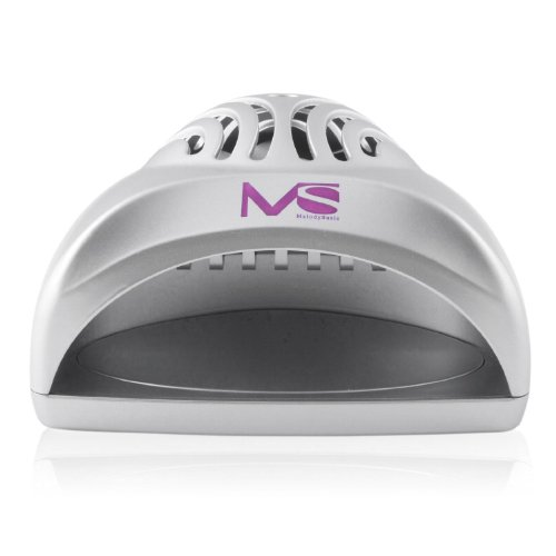 MelodySusie Nail Dryer Portable Mini Fan Nail Lamp – Handy and Compact for Drying Regular Nail Polish Battery Operated (Silver)