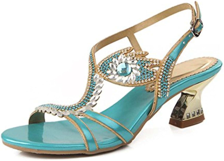 Moda Moda Moda donna strass sandali estate diamante moda Roma scarpe Hollow diamante sandali, EU36 UK3.5 | Prima i consumatori  | Sig/Sig Ra Scarpa  35a6ab