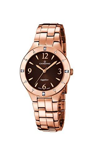 Candino - C4573/2 - Montre Femme - Quartz - Analogique - Bracelet Acier inoxydable doré