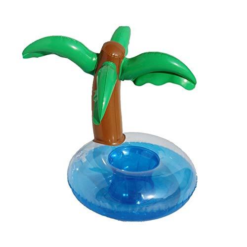 WENMIN Gonfiabile Coconut Tree Drink Cup Holder Sedili Galleggianti Gonfiabile Coppa Bevande Barca da Spiaggia Leggera per Feste da Spiaggia