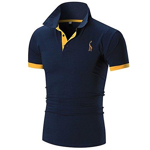 QUINTRA Poloshirts Herren Basic Kurzarm Polohemd t Shirt Bluse (Angebote)
