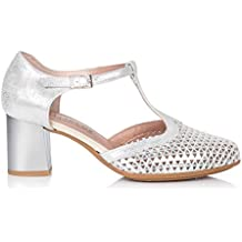 6dc5f1fdeffe Amazon.es: pitillos zapatos mujer - Plateado
