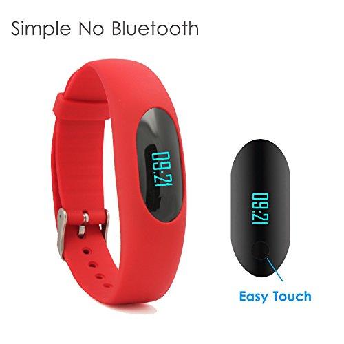 Yamay Fitness Armband Schrittzähler Armband Fitnessuhr Aktivitätstracker Ohne Bluetooth mit Zeit,Dtum,Schrittzähler,Kalorienzähler,Entfernungsrechner,Sport-Zeit,Schlafmonitor Ohne APP Handy