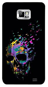 Timpax Slip-resistant, stain-resistant and tear-resistant Hard Back Case Cover Printed Design : A skull.Precisely Design For : Samsung I9100 Galaxy S II ( S-2 )
