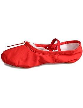 HROYL Niña Zapatillas de ballet algodón plano Ballroom CCB