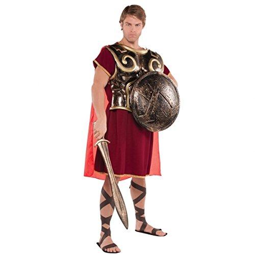 Spartan Für Erwachsenen Kostüm Warrior - Spataner Kostüm Accessoire Brustpanzer mit Umhang Erwachsene
