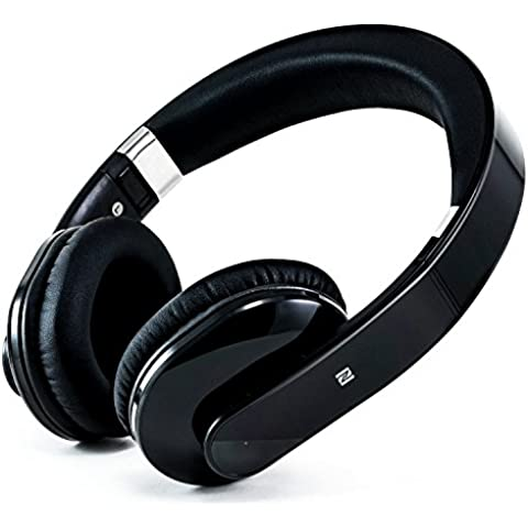 CSL - Auriculares Bluetooth 410 / auriculares inalámbricos | función NFC | batería integrada | 200 horas en modo stand- by / 10 horas para música/telefonía | función Noise Reduction | aptos para: tabletas, portátiles, móviles/teléfonos inteligentes (Samsung, HTC, Sony, Nokia, LG, Huawei, IPhone, etc.) así como equipos HiFi y mesas de mezclas