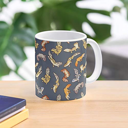 Geckos Chub Mug Dark In Grey - Bestes 11 Unze-Keramik-Kaffeetasse Geschenk
