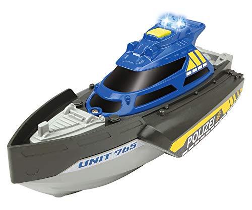 Dickie Toys 203714010 Special Forces Patrol, Spielzeugboot, Spezialeinheit, Polizeiboot mit Funktionen, Boot Sondereinheit, 1:24, Mehrfarbig