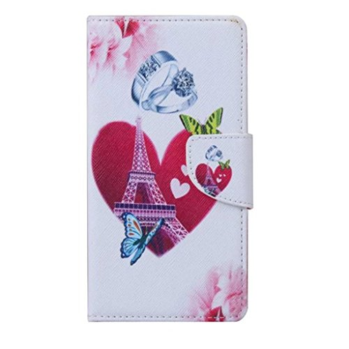 Gift_Source iPhone 5S hülle, iPhone 5 hülle, Brieftasche Ledertasche Bookstyle Schutzhülle Leder Flip case Etui for Apple iPhone 5/5S [ big ben ] E01-01-Love Eiffel Tower