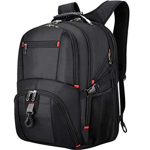 Vbiger Rucksack Herren Laptop Rucksack 17.3 Zoll RFID Wasserdicht Große Reiserucksack für Business Arbeit Schule Schwarz