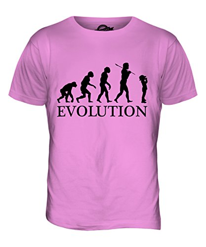 CandyMix Pfadfinder Evolution Des Menschen Herren T Shirt Rosa