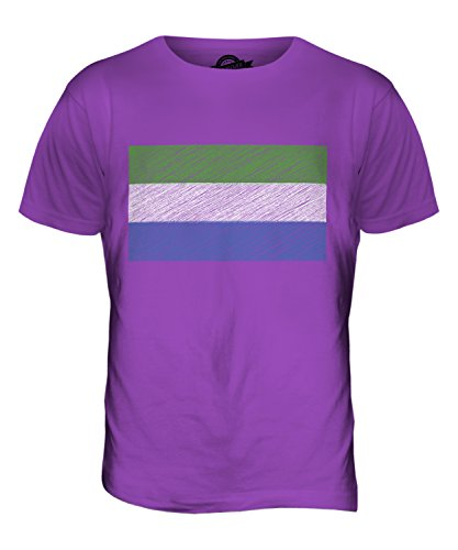 CandyMix Sierra Leone Kritzelte Flagge Herren T Shirt Violett