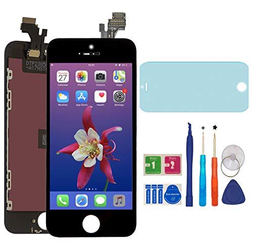 Iphone 5 Touchscreen (AUODA LCD Screen Display Touchscreen Bildschirm für iPhone 5 Digitizer Display schutzfolie (Schwarz))