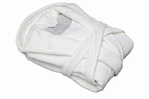 Möve Homewear Kapuzenbademantel, snow, Größe S Weiß