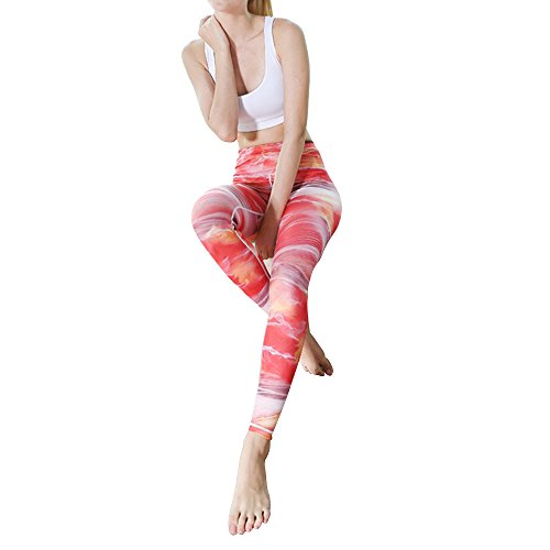 Goodstoworld leggings sportivi donna floral yoga leggins vita alta pantaloni elastico fitness collant sportive leggings