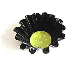 Accessoire à pois , déco à pois , vert chartreuse , objet décoratif , tendance rock'n'roll