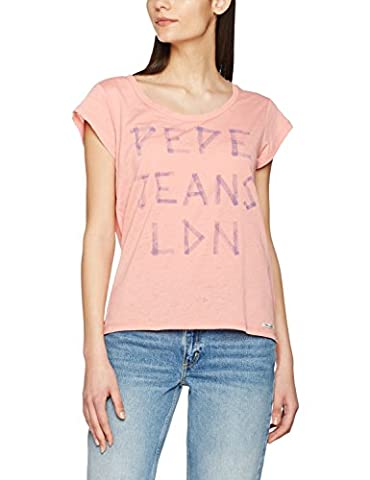Pepe Jeans Katrina, T-Shirt Femme, Rose (Washed Coral), FR: 40 (Taille Fabricant: M)