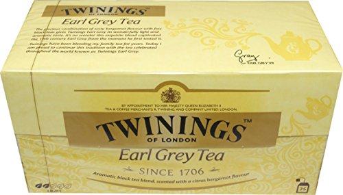 Twinings of London Earl Grey 3 x 25 Teebeutel Aromatisierter Schwarztee