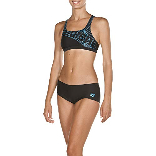 ARES5 Arena Damen Sport Bikini Altair Bikiniset, Black-Sea Blue, 36
