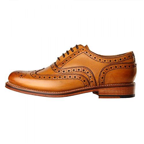 Grenson Stanley Brogue Shoe Tan
