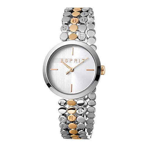 Esprit es1l018 m0075 Bliss Two Tone Rose Gold Silver Mujer Reloj