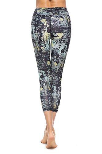a0f2426b4ce1e3 SOUTEAM - Leggings para Mujer con Estampado de Cintura Alta para  Adolescentes