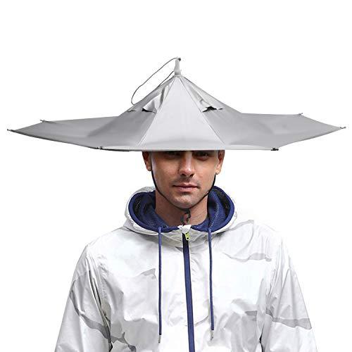 AIFUSI Regenschirmhut, Sonnenregenkappe, bunt, faltbar, 58,4 cm, für Party, Outdoor, Angeln, Jagd und Garten, UV-Schutz