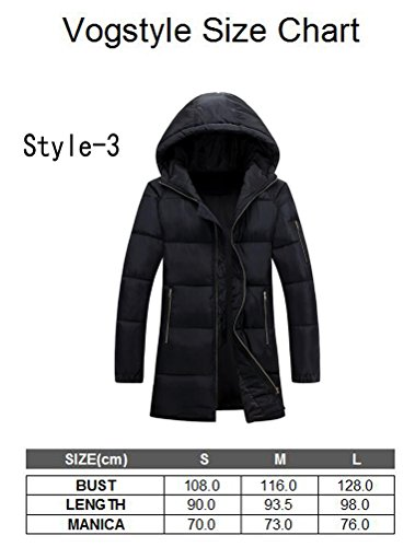 Vogstyle Herren Parka mit Kapuze Wintermantel Baumwolle Jacken Mäntel Mens Hooded Winter Warm Coat Jacket Art 3 Grau