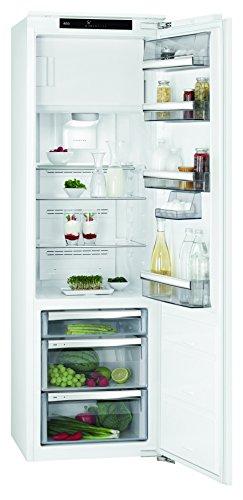AEG SFE81826ZC Einbaukühlschrank mit Gefrierfach / 155 l Kühlschrank / 75 l 0 °C-Kaltraum / 25 l Gefrierfach / A++ / sparsamer Einbaukühlschrank mit schnell abtaubarem Gefrierfach / H: 178 cm / weiß