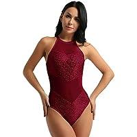 Freebily Femme Justaucorps Danse Classique Ballet Leotard Gymnastique Body  de Sport Yoga Combinaison Dos Nu sans beb46729e31
