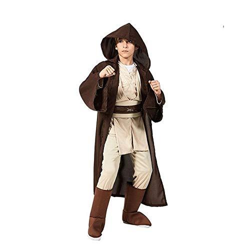 Deluxe Robe Kostüm Jedi Für Erwachsene - XIAOYUTOU Neue Jungen Star Wars Deluxe Jedi Krieger Film Charakter Cosplay Party Kleidung Kinder Phantasie Halloween Purim Karneval Kostüme (Color : Jedi Warrior, Size : M-Star Wars)