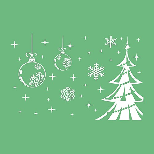 Duoying Christmas Bell Snowflake Tree Window Decal New Year Xmas Wall Sticker Ornament! -