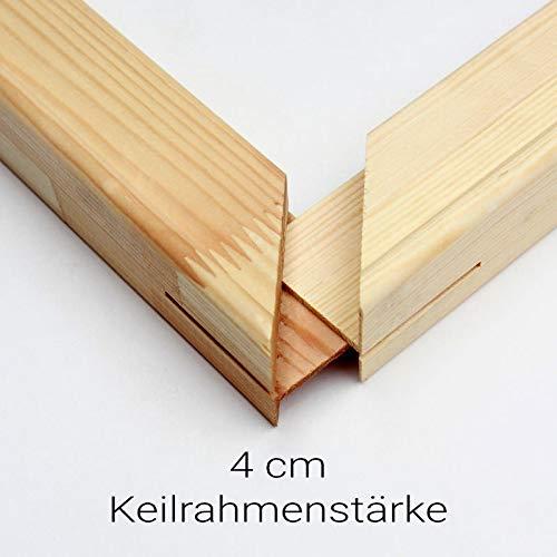 generisch Keilrahmen Bausatz 4 cm Holzleisten Set selbst zusammenbauen ohne Leinwand Verschiedene Größen bestellbar (Leisten 4cm, 40x50)